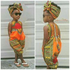 African print outfit for girls Dashiki Jumpsuit von Elaborationzz