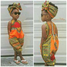 African print outfit for girls Dashiki Jumpsuit von Elaborationzz