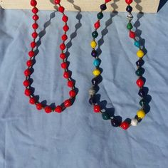 Lovely 36 inch necklace of Uganda paper beads. Available for $10. Ready to ship. Profits  go to Hope Hearts Ministries in Kampala, Uganda.