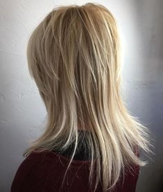 60 Most Universal Modern Shag Haircut Solutions Medium Blonde Layered Hairstyle Medium Shag Haircuts, Haircuts For Long Hair, Layered Haircuts, Hairstyles Haircuts, Short Haircuts, Wedding Hairstyles, Braided Hairstyles, Long Shag Hairstyles, 2018 Haircuts