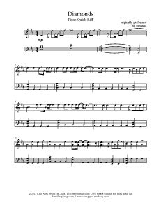 Diamonds - Rihanna. Find more free sheet music at www.PianoBragSongs.com.