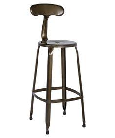 405.68 Chintaly Tyrone Galvanized Steel Bar Stools - Set of 4 - Outdoor Bar Stools at Hayneedle