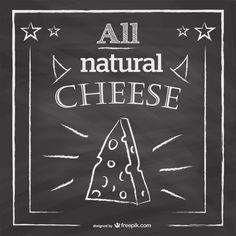 Dibujo de queso en pizarra Vector Gratis