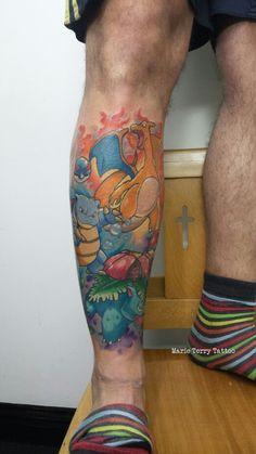 Pokemon tattoo charizard blastoise venusaur marie terry