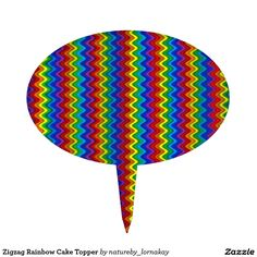 Zigzag Rainbow Cake Topper