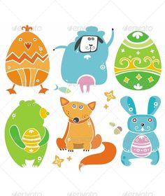 Easter animals by Dianka
