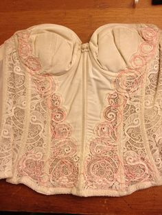White lace corset with EL wire | EL wire woven into lace | Flickr
