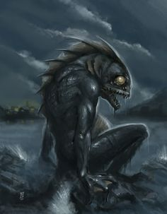 My favorite depiction of what one of Lovecraft's Deep Ones looks like.