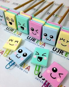 Lembrancinhas de Aniversário em EVA: Passo a Passo 27 Ideias Kids Crafts, Diy Crafts For Gifts, Foam Crafts, Easy Crafts, Creative Bookmarks, Diy Bookmarks, Creative Crafts, Diy Marque Page, Paperclip Crafts