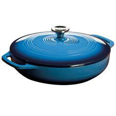 Lodge Color EC3D33 Enameled Cast Iron Dutch Oven, Caribbean Blue, 3-Quart