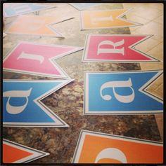 Free Alphabet Pennant Printables