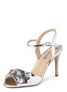 Womens Online Exclusive Silver 'Scarlett' Sandals- Silver