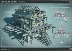Witch Hut, Andrew gman on ArtStation at https://www.artstation.com/artwork/3mEL2