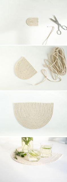 DIY Rope Trivet Mat | Fall For DIY