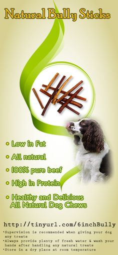 Free Range Bully Sticks - cleans teeth - they are perfect for cleaning teeth and helping to remove tartar build-up.