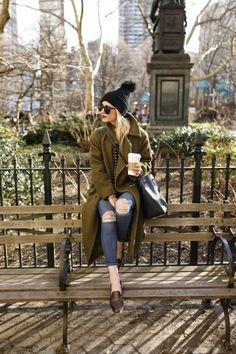 Longcoat, Beanie, & Jeans | Casual Streetwear