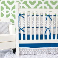 Gray and Navy Crib Bedding Swatch Kit