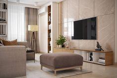 Előnytelen elosztás javítása új modern minimál berendezés egy család 92m2-es négyszobás lakásában - természetes anyagok és színek