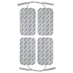 Electrodos TENS Prorelax compatibles 10x5 cm, 4 unidades Electrodos/Parches, 100x50 mm, 4 unidades, autoadhesivos Para dispositivos de electroestimulación y TENS con conexión de 2 mm Contenido: 4 electrodos, 10x5 cm