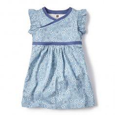 Blue Bandana-Print Little Girls Dress | Tea Collection