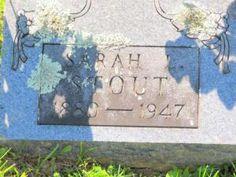 Tombstone Photo - Sarah L Gabbard Stout Tombstone Photo #genealogy
