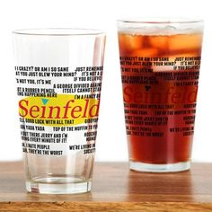 Seinfeld Funny Quotes Drinking Glass