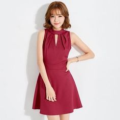 Buy Tokyo Fashion Sleeveless Cutout A-Line Dress at YesStyle.com! Quality products at remarkable prices. FREE WORLDWIDE SHIPPING on orders over US$ 35.