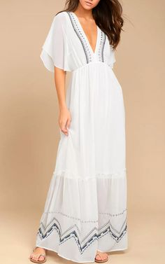Adelyn Rae Chandra White Embroidered Maxi Dress @bestmaxidress