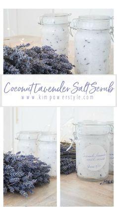 A Simple Coconut Lavender Salt Scrub