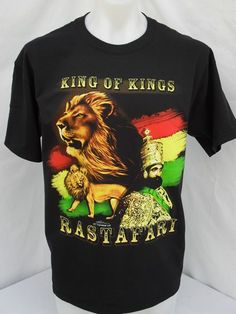 CHILDS//KIDS KING OF KINGS RASTAFARI BLACK T SHIRT DON/'T FORGET YOUR HISTORY