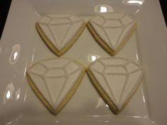 Diamonds!!  A Girl's Best Friend ..Decorated Sugar cookies for any party, anniversary, or wedding celebration! on Etsy, $33.00