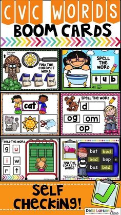 This CVC words NO PREP Packet is filled with Boom Cards to help your students with blending and segmenting cvc words. Boom cards are a perfect way to help students practice phonological awareness and and increase beginning reading skills. Kindergarten Readiness, Literacy Skills, Kindergarten Classroom, Literacy Centers, Classroom Ideas, Future Classroom, Literacy Stations, Increase Vocabulary, Beginning Reading