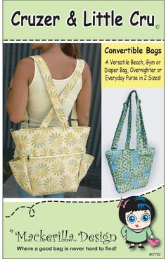 Cruzer Backpacks Sewing Pattern PDF