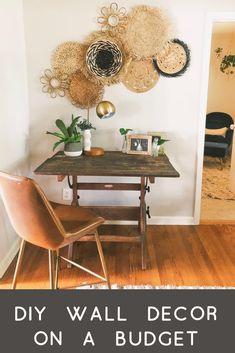 Diy Wall Decor, Diy Bedroom Decor, Diy Home Decor, All You Need Is, Boho Living Room, Baskets On Wall, Interior Decorating, Beautiful Wall, Dear Friend