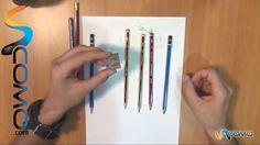 Lápices para dibujar sobre papel (Curso dibujo)