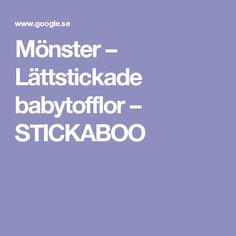 Mönster – Lättstickade babytofflor – STICKABOO