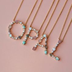 Grab your letter before they're gone. - The cutest addition to our initial collection, introducing the Opal Monogram Pendants from Tai Jewe - Tai Jewelry, Cute Jewelry, Jewelry Accessories, Jewelry Design, Women Jewelry, Fashion Jewelry, Jewelry Box, Clean Jewelry, Jewelry Dresser