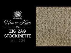 The Zig Zag Stockinette Stitch :: Knitting Stitch #180 :: New Stitch A Day