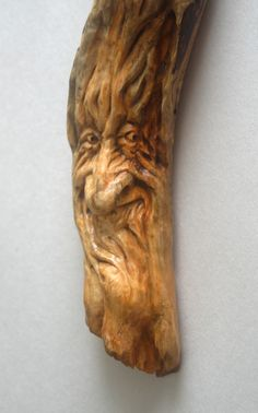 Wood Spirit Carving Gnome Wizard Old man Tree Sculpture Cabin Decor Fantasy gift woodland creature Face Watcher Guardian spirit of the woods by TJKleens on Etsy