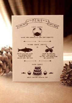 Wedding Dinner Menu | Letterpress
