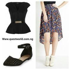 TGIF #top size 10 #5000 #skirt size 8 10 14 #4500 #shoes size 40 #6500 www.questworld.com.ng Nationwide Delivery Pay on delivery-Lagos