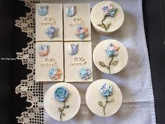 Natural soaps with soaps flowers
