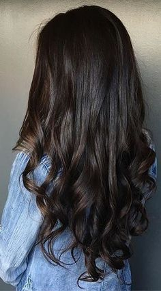 dark chocolate brunette hair color - stunning
