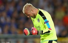 Leicester keeper Kasper Schmeichel was happy to keep a clean sheet in…