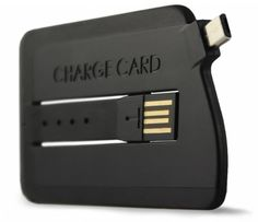 ChargeCard - Android/Micro USB - Slim USB Cable, Credit Card Sized