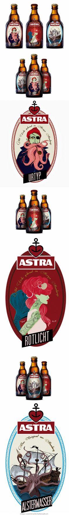 Niet te hachelen, maar typisch Hamburgs: Astra Bier...