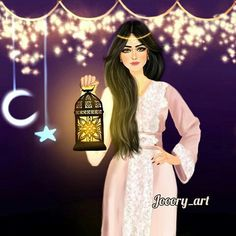 Image in رمضان 🌙🕌 collection by Koka on We Heart It Girl M, Girly Girl, Art Girl, Girly M Instagram, Beautiful Girl Drawing, Sarra Art, Profile Pictures Instagram, Mother Art, Cute Girl Wallpaper