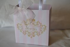 Pink  party favor bags for your baby shower by SandysCandyBags