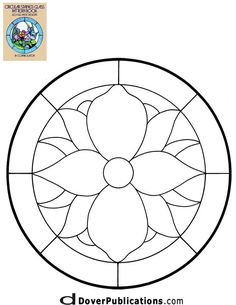 ★ Stained Glass Patterns for FREE ★ glass pattern 107 ★