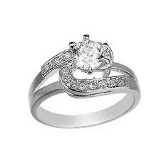 "Round Cut CZ Engagement Ring - White Gold Filled 6mm Cubic Zirconia Solitaire Bypass Ring-Size 7 By GemGem Jewelry GemGem Jewelry. $15.99. CZ Engagement Ring. Gold filled is a better quality and longer lasting version of ""Gold Plated"" jewelry. White Gold Filled CZ Ring. Classic CZ Ring. 6mm - Prong Set Cubic Zirconia Ring"